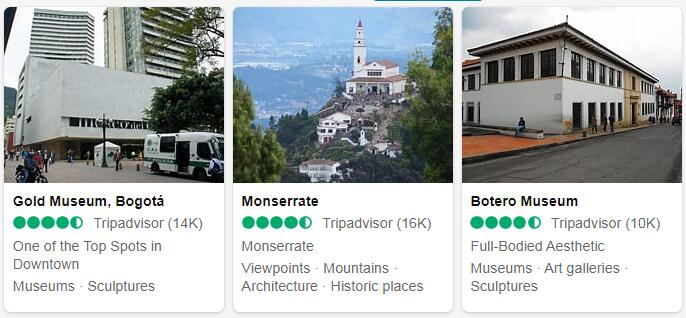 Colombia Bogota Places to Visit