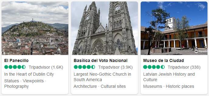 Ecuador Quito Places to Visit