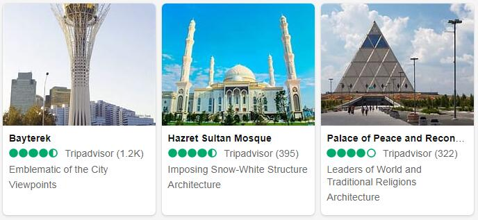 Kazakhstan Nur-Sultan Places to Visit