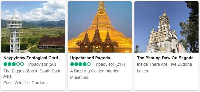 Myanmar Nay Pyi Taw Places to Visit