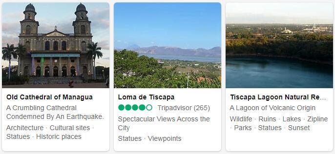 Nicaragua Managua Places to Visit