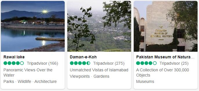 Pakistan Islamabad Places to Visit