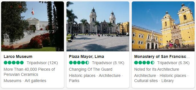 Peru Lima Places to Visit