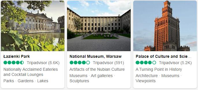 Poland Warsaw Places to Visit