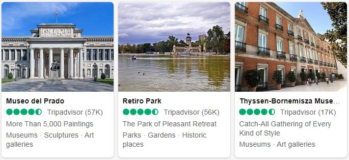 Spain Madrid Places to Visit