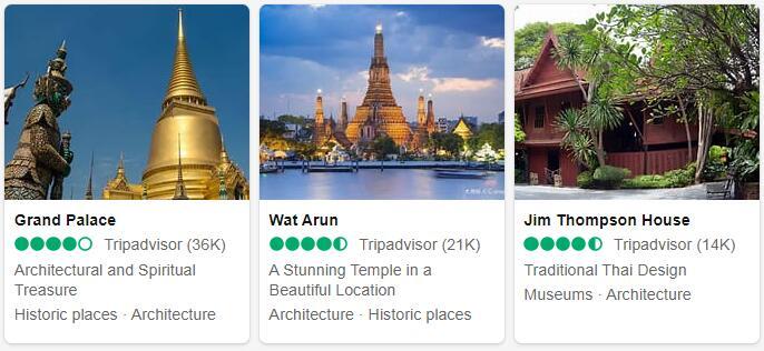 Thailand Bangkok Places to Visit